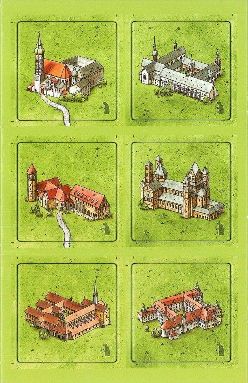 Carcassonne: Klöster in Deutschland
