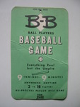B-B Ball Players Baseball Game