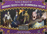 Massive Darkness: Heroes & Monster Set – Warrior Priests vs The Spearmaiden Cyclops